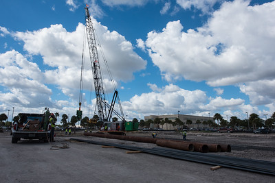 The foundotion work begains on Tidal Hall at TAMUCC on October 26,2016