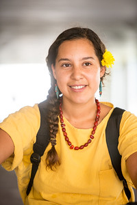 Melissa Zamora with Islander Green.