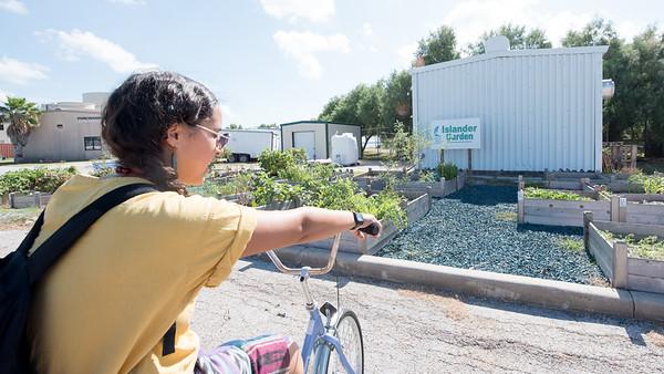 Melissa Zamora arrives at the Islander Garden.
