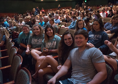 Students Kimberly Mckendree, Sarah Wood, Allison Vasquez, Analissa Tomlin, and Alex Moroves at Islander Revue.