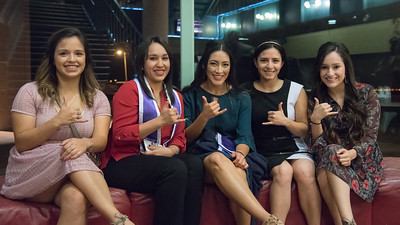 Inductees (Left to Right) Lorisa Gallardo, Samantha Warmath, Marion Flores, Anna Robles, and Jasmine Robledo.