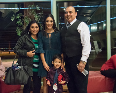 Inductee Marion Flores with her family.