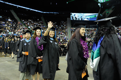 More than 871 Texas A&M University-Corpus Christi students walked the stage during two commencement ceremonies held Saturday, Dec. 17, 2016 at the American Bank Center. The commencement speaker was Ben Masters, Filmaker, Horse Trainer, Writer and Conservationist.