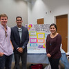 Students (left to right) Ty Allison, Rodrigo Posada, and Alyson Gonzales next to their poster presentation on Big Brothers Big Sisters of South Texas.
