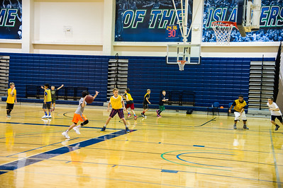 students playing basketball at the 2016 summer basketball camp