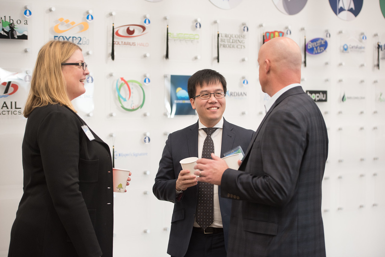 Megan Hoyt (left), Howard Lim and Russell Franques during the patents and trademarks workshop in the Coastal Bend Business Innovation Center. Saturday January 21, 2017.