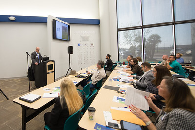 Attorney Joe Cleveland during his presentation at the patents and trademarks educational workshop in the Coastal Bend Business Innovation Center. Saturday January 21, 2017.