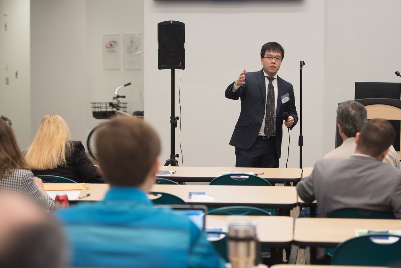 Attorney Howard Lim speaks to attendees during the patents and trademarks educational workshop. Saturday January 21, 2017 in the Coastal bend Business Innovation Center.