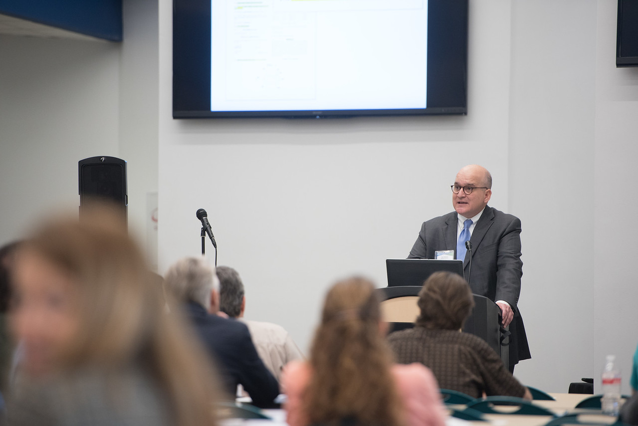 Attourney Joe Cleveland during his presentation at the patents and trademarks educational workshop in the Coastal Bend Business Innovation Center. Saturday January 21, 2017.