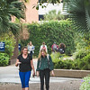 Julie Wetherholt and Emily Shapiro speak as they make their way in between classes.