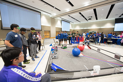 Coastal Bend area students in grades 7-12 developed robots to participate in the FIRST Tech Challenge League Championship. Teams competed in an Alliance format against other teams using a sports model. Saturday January 21, 2017 at TAMU-CC.