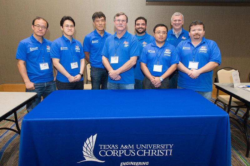 TAMU-CC volunteer judges for the First Tech Challenge.