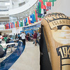 Islanders stop by the islander ring sale table during the lunch hour in the University Center.