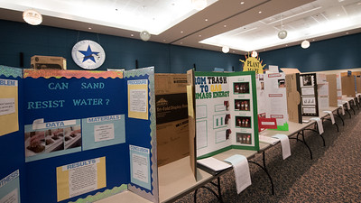 Poster boards set up in the legacy ballrooms a day before the Coastal Bend Regional Science Fair.