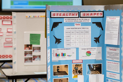 One of the many poster presentations set up in the University Center, a day before the Coastal Bend Regional Science Fair. Friday January 27, 2017.