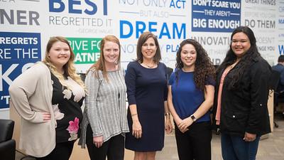 Hayley Stewart, Abigail Kelley, Melissa Lopez, Erin Longoria, and Kristina Ubina.