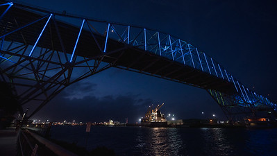 021317 Harbor Bridge Lighting - Homecoming