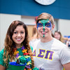 TAMU-CC Students Lauren Untalan(left) and Richard Schreiber(right) showing their school spirt for Homecoming Week.