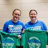 TAMUCC Alumni and Faculty Katheryn Paynter(left) and Melanie Lowry(right) show their Homecoming spirt.