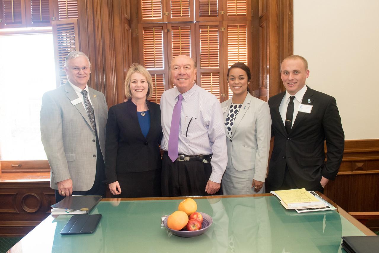 Dr. Donald Albrecht, Dr. Kelly Quintanilla, Senator Chuy Hinojosa, Andrea Gilson, Garrett Ransom.