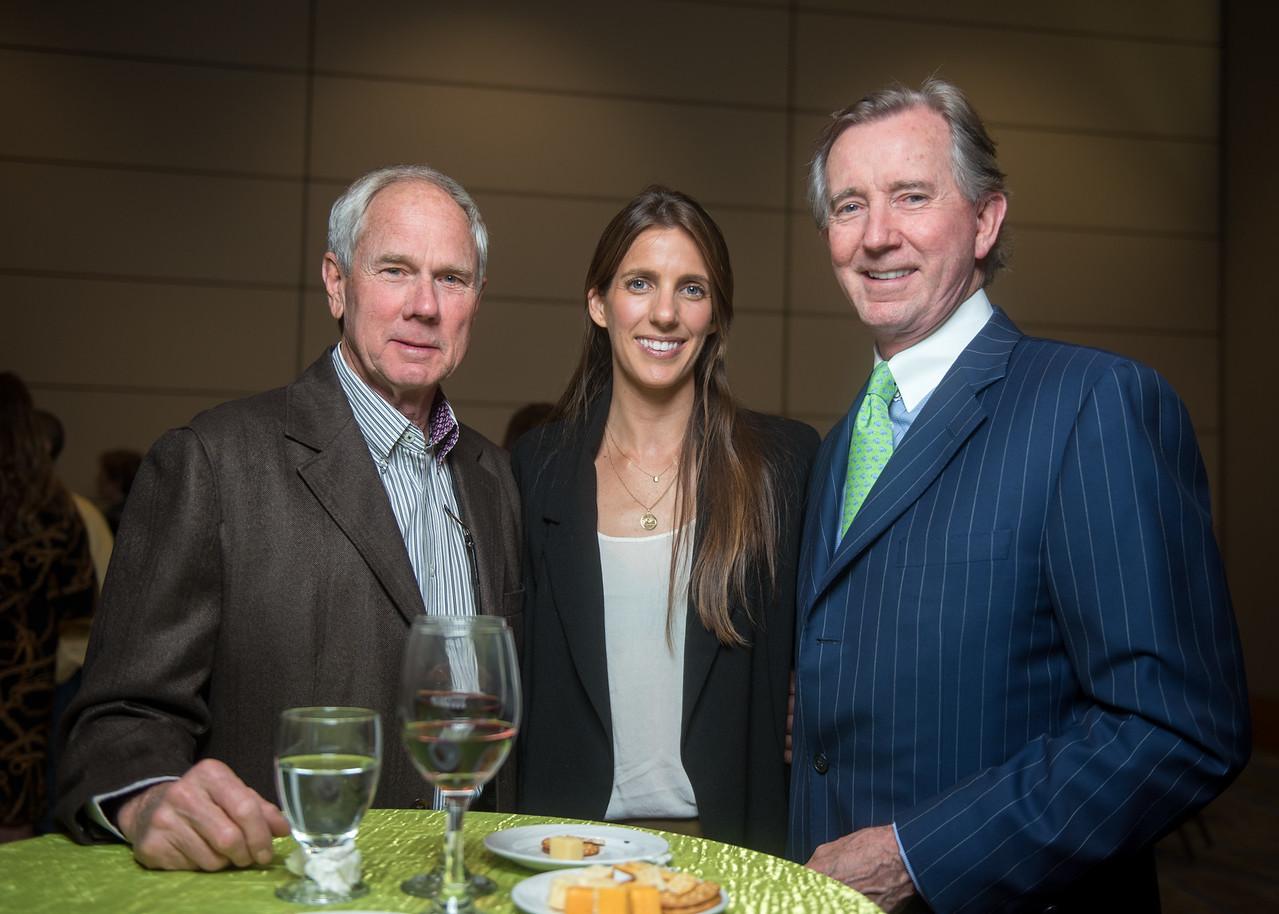 Chuck Weil (left), Sarah Smith, Ted Oakley