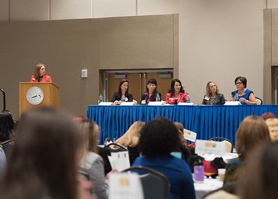 Panel discusses women leadership roles in society at the 2017 Woment in Leadership Symposium.