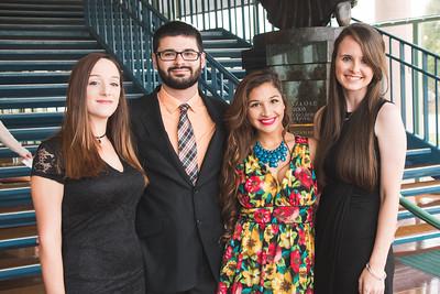 Margaret Abalos (left), Erick Morin, Jenny Ramirez, and Kersee Klatt.