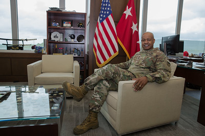 LTG Wyche in his office