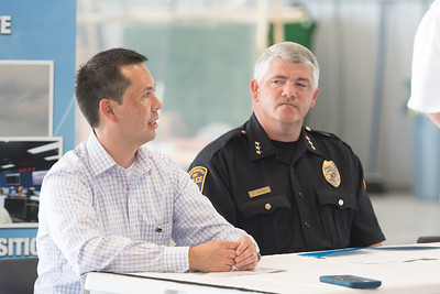 Jeffrey Homola with NASA AIMS research center (left) and Chief of Port Mansfield Police Department David Mayes.