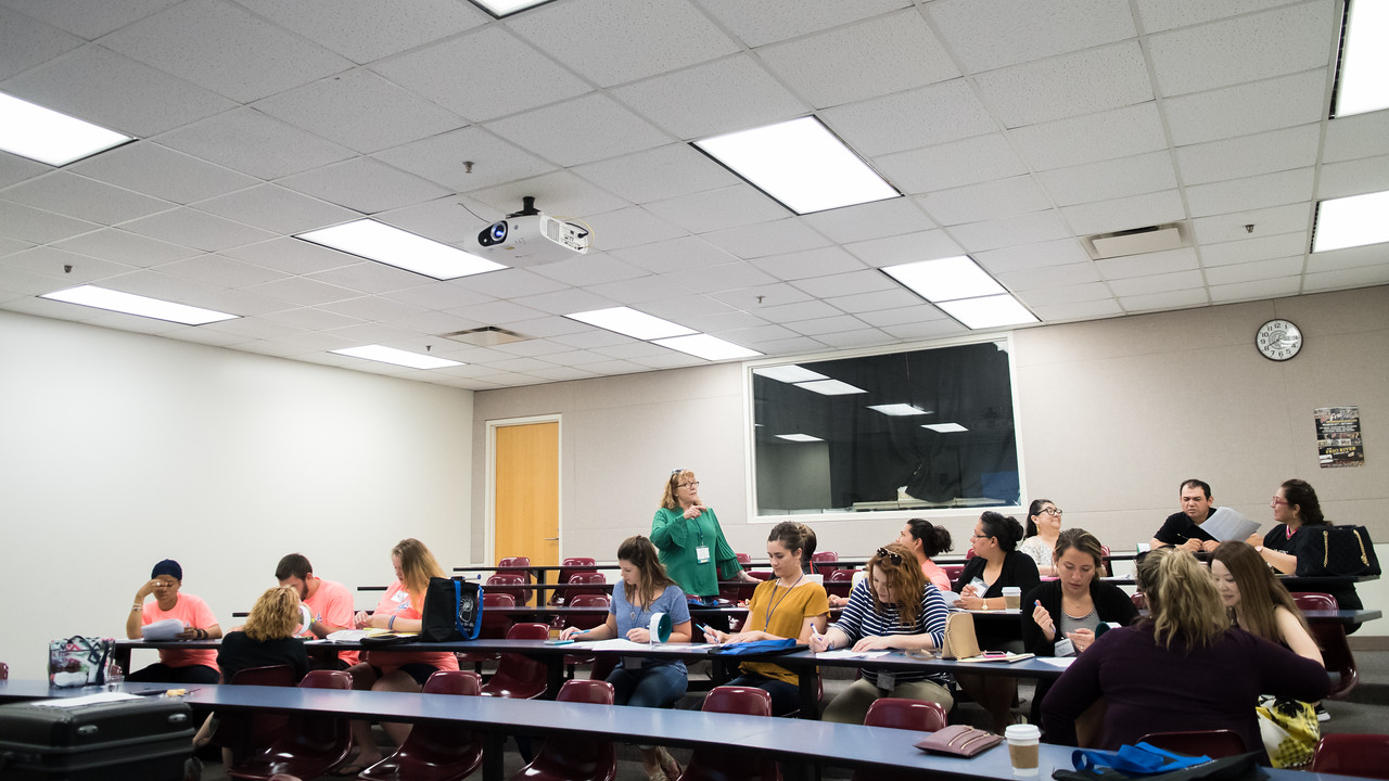 """Educators from around the Coastal Bend take part in the """"Me by the Sea"""" educational workshop."""