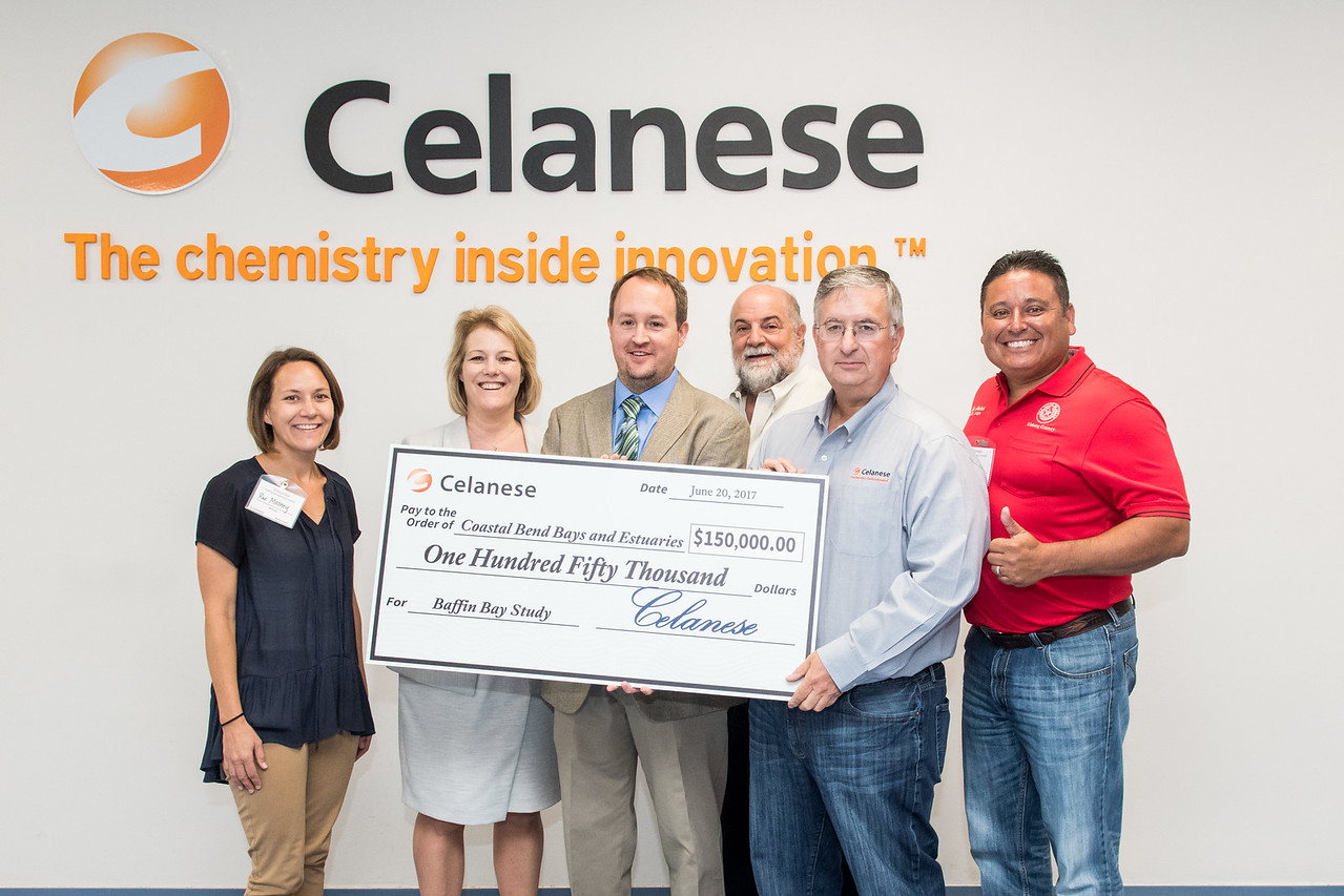 The Coastal Bend Bays and Estuaries program received a $150,000 donation towards their research of the baffin bay from Celanese.