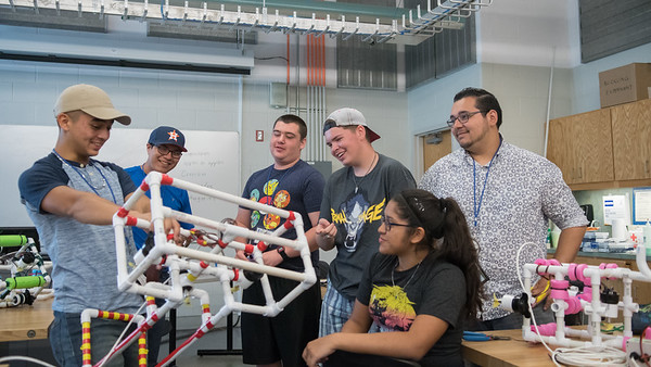High school students enjoy the Pipe ROV Building workshop during the summer STEM camp.  To learn more about our STEM summer camps, click here: http://sci.tamucc.edu/ENGR/stemsi/