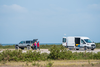 TAMU-CC's Conrad Blucher Institute's research teams set out to survey Mustang Island following Hurricane Harvey.