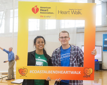 Adnrea Gilson (left) and Connar Allen pose for a photo at the Coastal Bend Heart Walk Kickoff.