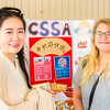 Student Xiaotian Tang (left) introduce to Phoenix Kruger about the Mid Autumn Festival of Asia