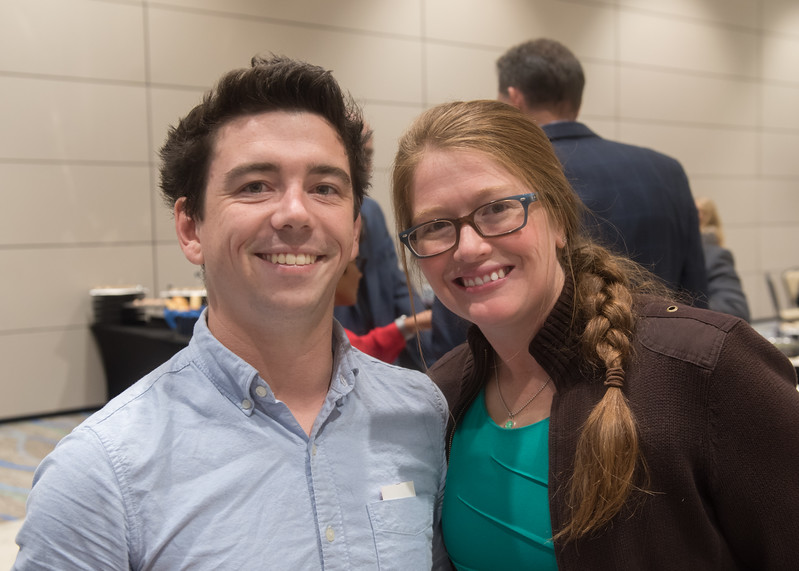 Dave Cutting (left), Kristen Cope