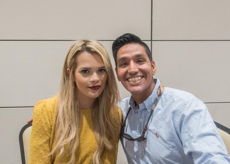 Roxana Desantos with Jared Quintanilla at the VIP reception.