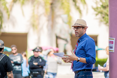 Dr. Gabriel Ferreyra educates Islanders during a Drug Bust demonstration in Hector P. Garcia Plaza.