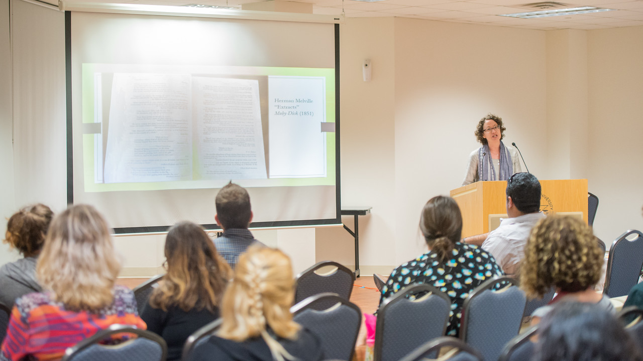 The Texas Speaker Series welcomes Claudia Stokes, Professor and Chair of English Department at Trinity University in San Antonio, to speak to students about the literary history of quotation ...
