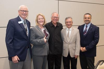 Ted Guffy (left), Kelly Quintanilla, Todd Hunter, LD Chen, and Ahmed Mahdy.