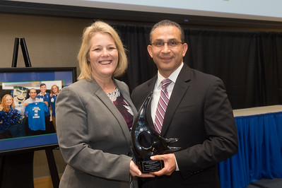 President/CEO of Texas A&M University-Corpus Christi Kelly Quintanilla (left), and Representative Abel Herrero.
