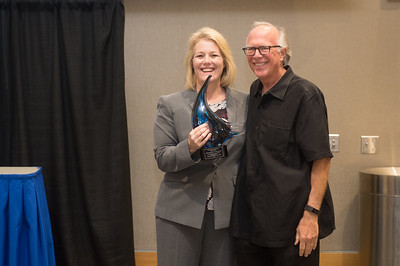 President/CEO of Texas A&M University-Corpus Christi Kelly Quintanilla (left), and Representative Todd Hunter.