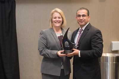 President/CEO of Texas A&M University-Corpus Christi Kelly Quintanilla (left), and Representative Abel Herrero.