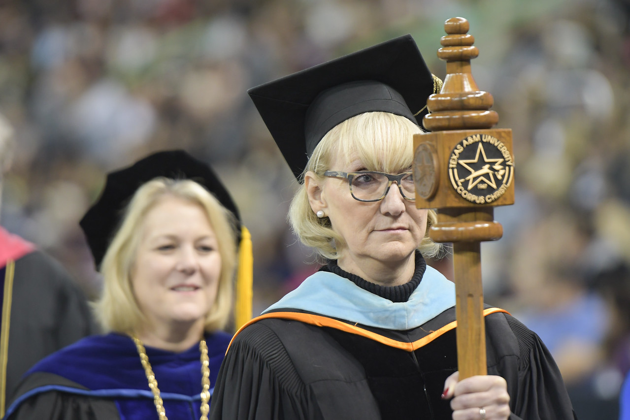 Dr. Jana Sanders, Carrier of the Mace for the Fall 2017 Commencement Ceremony.