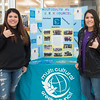 Rebekah Ramirez (left), and Sofia Flores show their greek life pride during the Meet the Greeks event in the UC Rotunda.
