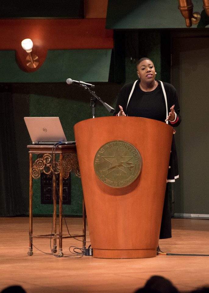 Ms. Symone Sanders, the former National Press Secretary for Bernie Sanders Presidential Campaign, encouraged attendees to act boldly and stand up for what they believe in during the 6th Annu ...