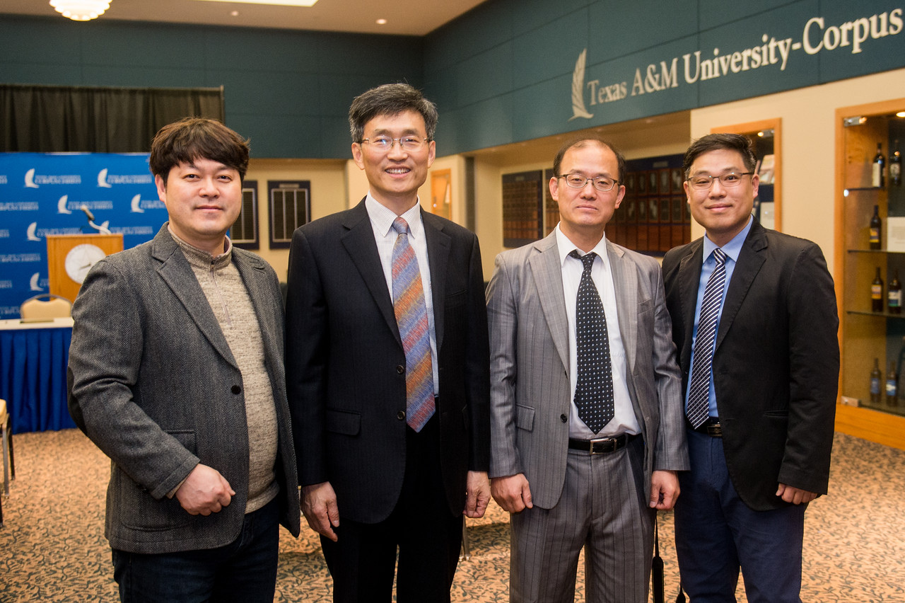 Mr. Junho Jun (left), Mr. Heonsoo Kim, Dr. Iltai Kim, and Dr. Lee Hee Kune.