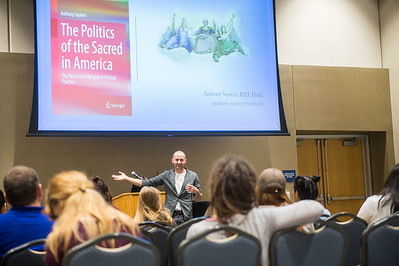 "Dr. Anthony Squiers, Associate Professor of Government at Tarrant County College. Gives a presentation on his new book, ""The Politics of the Sacred in America: The Role of Civil Religion in Political Practice""."