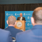 Dean, College of Science and Engineering, Dr. Frank Pezold welcomes the United States Coast Guard to the MOA signing at Texas A&M University-Corpus Christi. Tuesday February 20, 2018 in the  ...