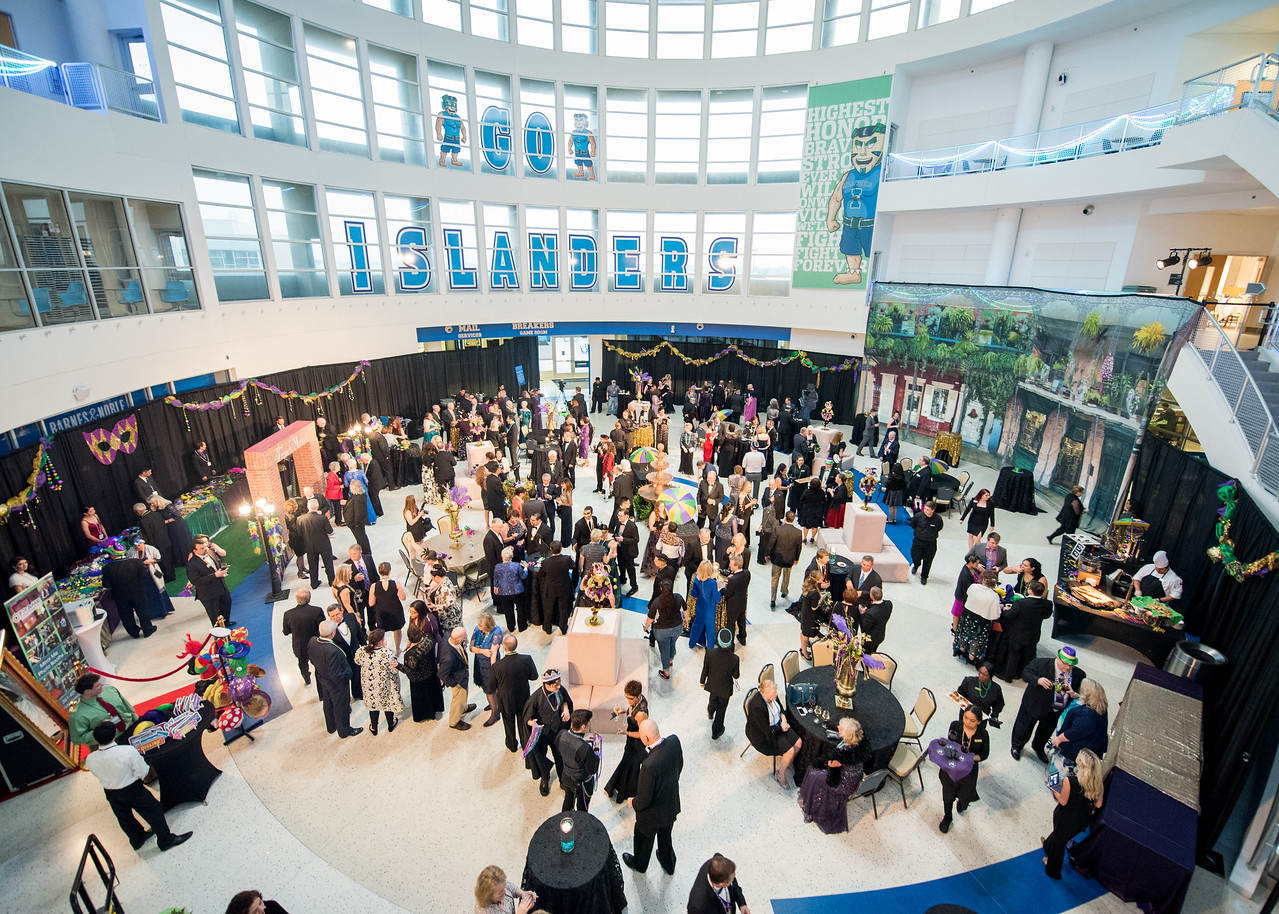 The Univeristy Center Rotunda fills with guests during President's Ball on March 3rd, 2018 at Texas A&M University - Corpus Christi.